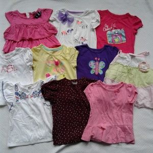Other - Lot/10 Girls Short Sleeve Shirts 24m 2T
